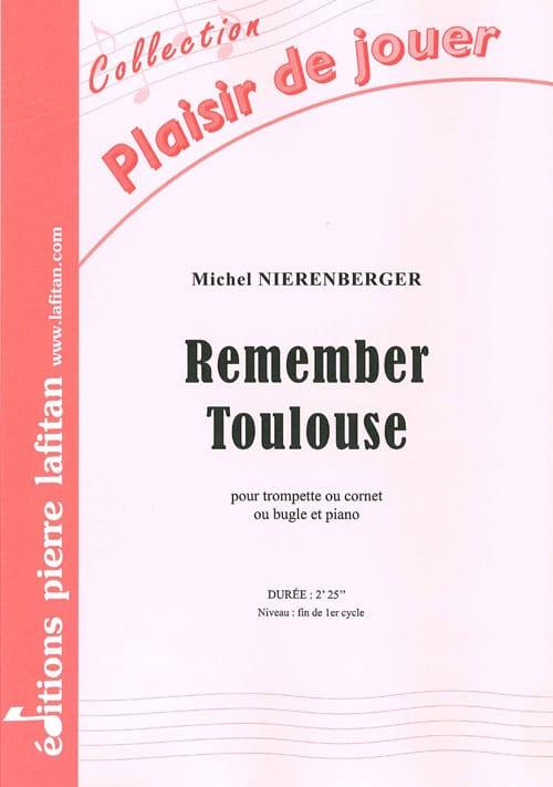 Remember Toulouse - Michel Nierenberger - Partition - laflutedepan.com