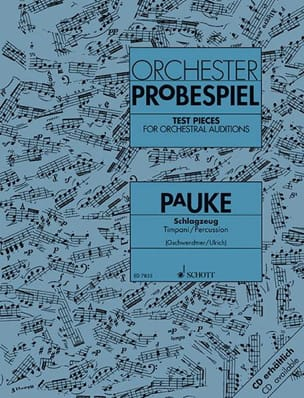 Orchester Probespiel Pauke Partition Timbales - laflutedepan