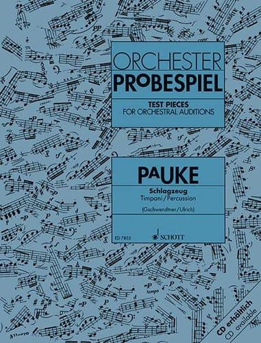 Orchester Probespiel Pauke - Partition - laflutedepan.com
