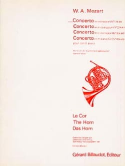 Concerto En Ré Majeur N° 1 K412 MOZART Partition Cor - laflutedepan