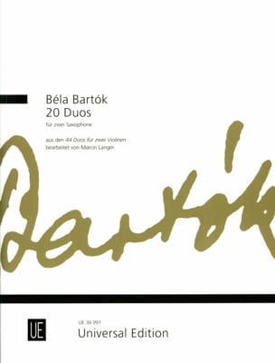 20 Duos BARTOK Partition Saxophone - laflutedepan