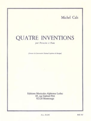 4 Inventions Michel Cals Partition Multi Percussions - laflutedepan