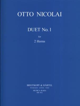 Duet N° 1 Otto Nicolai Partition Cor - laflutedepan