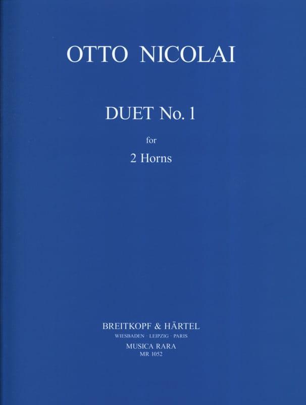 Duet N° 1 - Otto Nicolai - Partition - Cor - laflutedepan.com