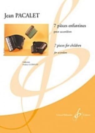 7 Pièces enfantines - Jean Pacalet - Partition - laflutedepan.com