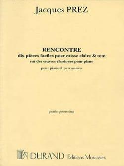 Rencontre Piano-Percussion Jacques Prez Partition laflutedepan