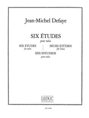 6 Etudes pour Tuba Jean-Michel Defaye Partition Tuba - laflutedepan