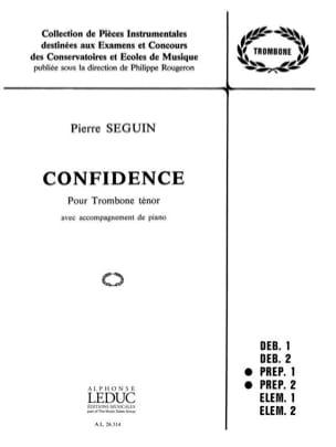 Confidence Pierre Seguin Partition Trombone - laflutedepan