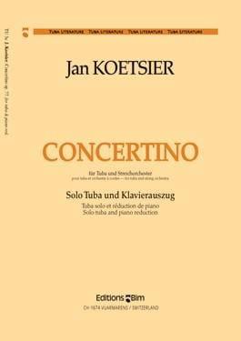 Concertino Opus 77 Jan Koetsier Partition Tuba - laflutedepan