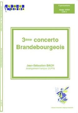 3ème Concerto Brandebourgeois BACH Partition laflutedepan