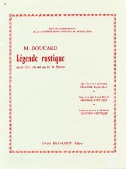 Légende Rustique Boucard Partition Cor - laflutedepan
