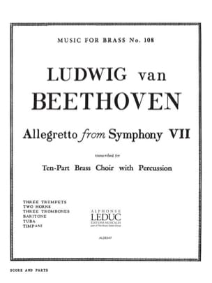 Allegretto From Symphony 7 BEETHOVEN Partition laflutedepan