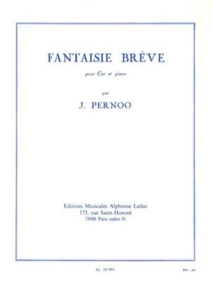 Fantaisie Brève Jacques Pernoo Partition Cor - laflutedepan