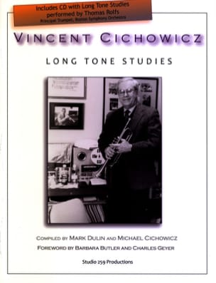 Long Tone Studies Vincent Cichowicz Partition laflutedepan