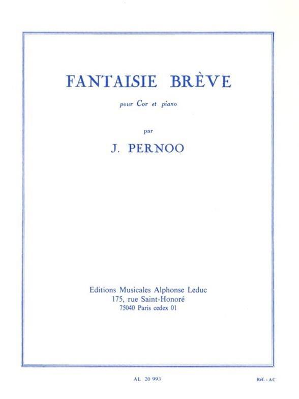 Fantaisie Brève - Jacques Pernoo - Partition - Cor - laflutedepan.com