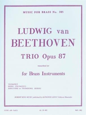 Trio Opus 87 BEETHOVEN Partition Ensemble de cuivres - laflutedepan