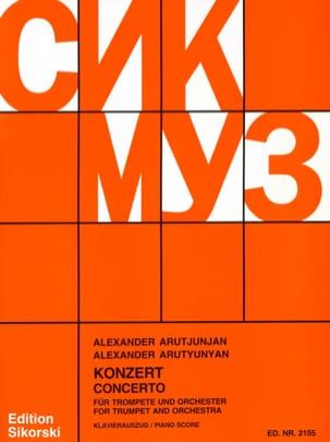 Concerto Alexander Arutjunjan Partition Trompette - laflutedepan