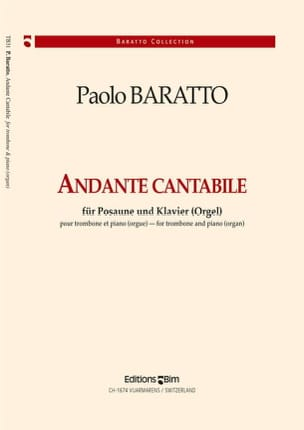 Andante Cantabile Paolo Baratto Partition Trombone - laflutedepan