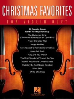 Christmas Favorites for Violin Duet Noël Partition laflutedepan
