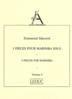 5 Pièces Pour Marimba Solo Volume 4 Emmanuel Séjourné laflutedepan