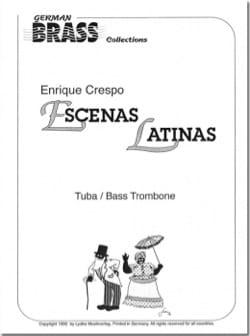 Escenas Latinas Enrique Crespo Partition Tuba - laflutedepan