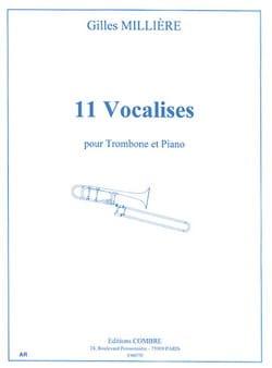 11 Vocalises Gilles Millière Partition Trombone - laflutedepan