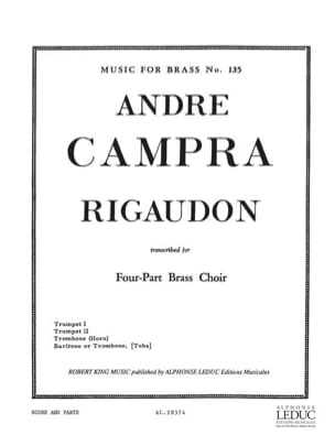 Rigaudon CAMPRA Partition Ensemble de cuivres - laflutedepan