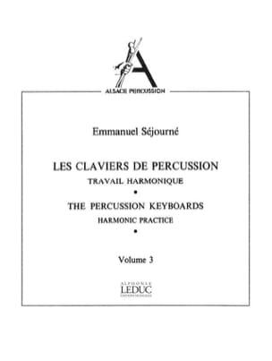 Claviers de Percussion Volume 3 Emmanuel Séjourné laflutedepan