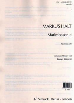Marimbasonic Markus Halt Partition Marimba - laflutedepan