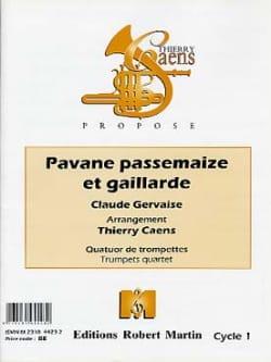 Pavane Passemaize Et Gaillarde Claude Gervaise Partition laflutedepan