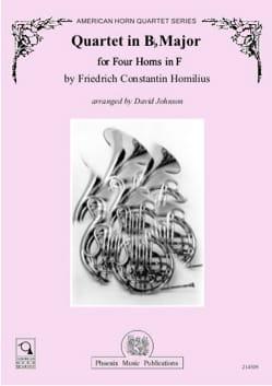 Horn Quartet in Bb Major Friediech Constantin Homilius laflutedepan