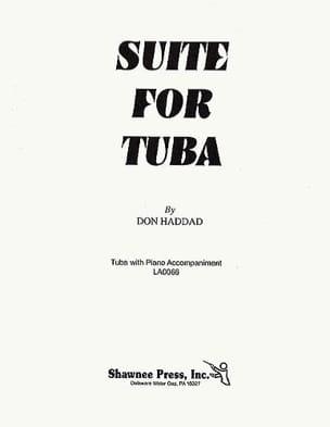 Suite For Tuba Don Haddad Partition Tuba - laflutedepan