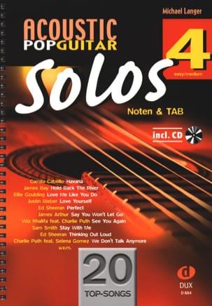 Acoustic Pop Guitar Solos - Volume 4 - Partition - di-arezzo.com