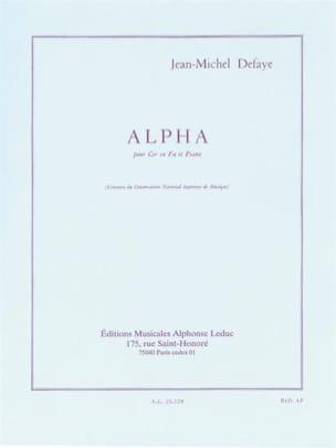 Alpha Jean-Michel Defaye Partition Cor - laflutedepan
