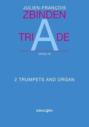Triade Opus 78 Julien-François Zbinden Partition laflutedepan