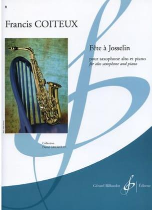 Fête A Josselin Francis Coiteux Partition Saxophone - laflutedepan