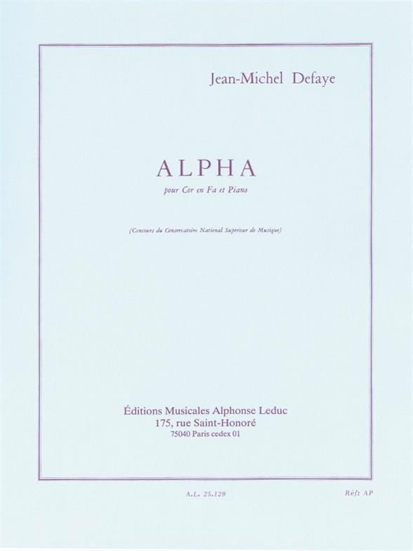 Alpha - Jean-Michel Defaye - Partition - Cor - laflutedepan.com