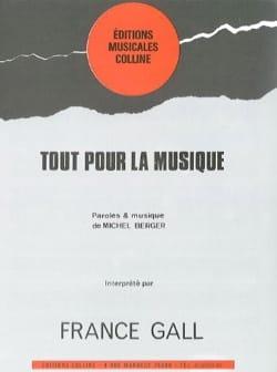 Tout Pour la Musique France Gall Partition laflutedepan
