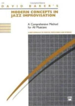 Modern Concepts In Jazz Improvisation - David Baker - laflutedepan.com