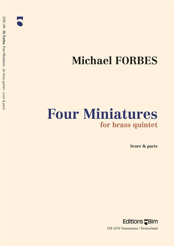 Four Miniatures - Michael Forbes - Partition - laflutedepan.com