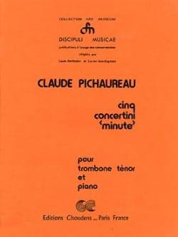 Cinq Concertini Minute Claude Pichaureau Partition laflutedepan