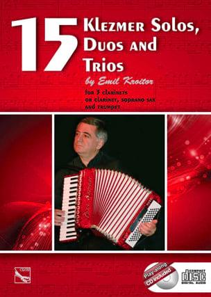 15 Klezmer Solos, Duos And Trios Emil Kroitor Partition laflutedepan