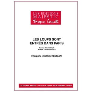 Serge Reggiani - Wolves Have Entered Paris - Partition - di-arezzo.co.uk