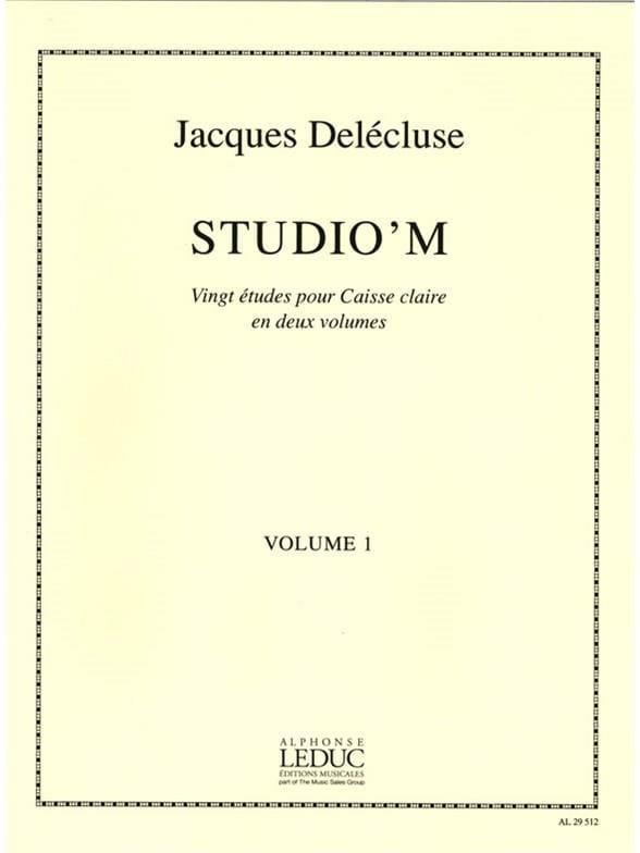 Studio' M Volume 1 - Jacques Delécluse - Partition - laflutedepan.com