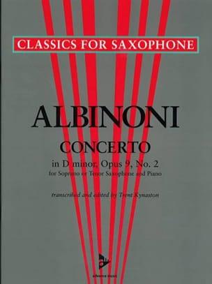 Concerto in D-minor opus 9 N° 2 ALBINONI Partition laflutedepan