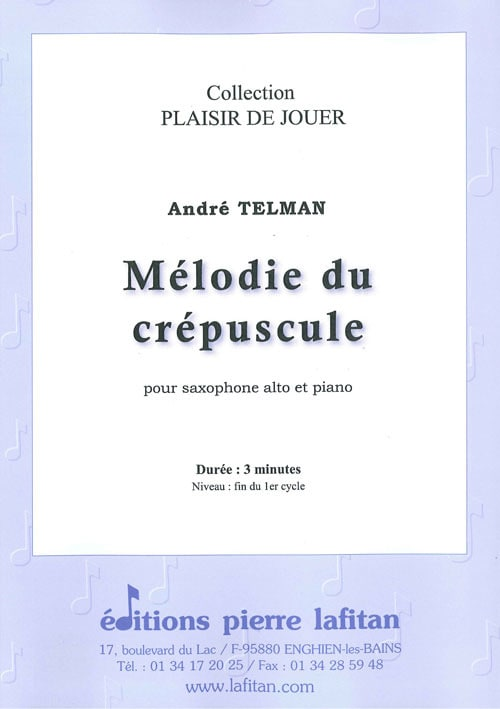 Mélodie du Crépuscule - André Telman - Partition - laflutedepan.com