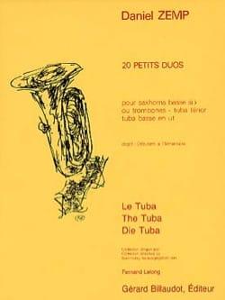20 Petits Duos - Daniel Zemp - Partition - Tuba - laflutedepan.com
