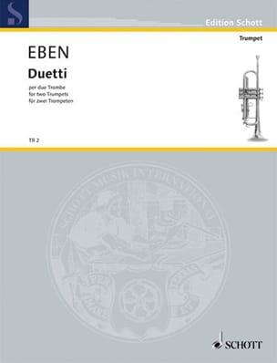 Duetti Petr Eben Partition Trompette - laflutedepan