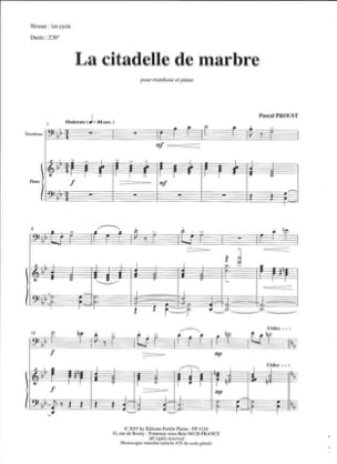 La Citadelle de Marbre Pascal Proust Partition Trombone - laflutedepan