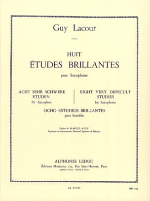 Guy Lacour - 8 Etudes Brillantes - Partition - di-arezzo.fr